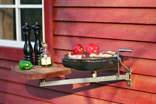 Nielsen exterior balcón de barbacoa con de brazo y tabla de cortar