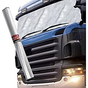 hp autozubeh r couverture de pare brise en aluminium pour camion 255 cm x 100 cm l x h. Black Bedroom Furniture Sets. Home Design Ideas