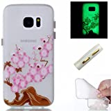 Ecoway Noctilucent Luminous Carcasa Ultra TPU Funda Case for Samsung Galaxy S7 , Ultra Thin Carcasa...