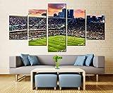 5 Stück Modern Home Decor Das Stadion beobachten 3D HD Drucke Leinwand Büro Wandkunst Modular Für Hintergrund Poster Wohnzimmer