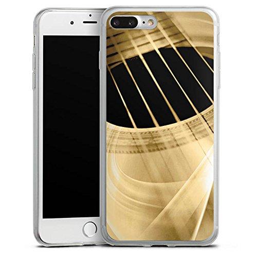 Apple iPhone 8 Plus Slim Case Silikon Hülle Schutzhülle Gitarre Instrument Saiten Silikon Slim Case transparent