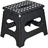 Primelife Portable Folding Plastic Step Stool 12 Inch (Color May Vary)