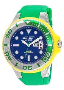 Jet Set - J55223-13 - Wb30 Diver - Montre Homme - Quartz Analogique - Cadran Bleu - Bracelet Caoutchouc Vert