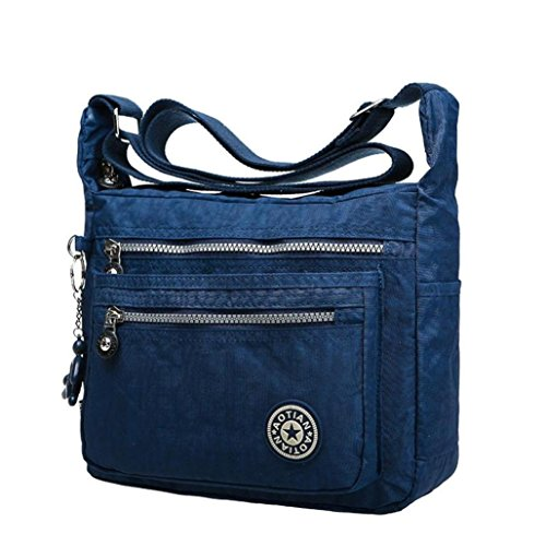 kolylong-womens-girls-waterproof-nylon-leisure-messenger-bags-shoulder-bags-dark-blue