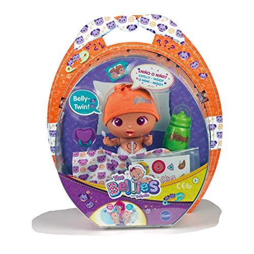 The Bellies - Nelly-Twin, muñeco Interactivo para niños y niñas de 3 a 8 años (Famosa 700014345)