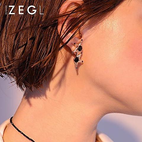Star girls fashion Ohrringe Ohrringe Ohrringe Ohrringe kurze einfache Ohrschmuck von 1 Sterne, All-match Mode