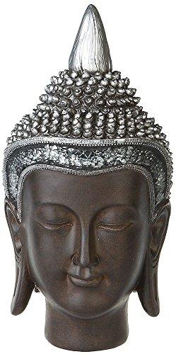 Thai Buddha Deko Figur Budda Kopf Buddhismus Skulptur Feng Shui Statue