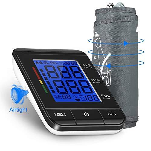 Blutdruckmessgerät, Magicpeony Blutdruckmessgerät Oberarm Blutdruck und Pulsmessung mit Arrhythmie-Anzeige, hoher Genauigkeitsmessung Blutdruck Messgerät