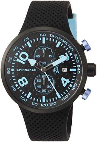 Spinnaker Dynamic Men's Quartz Watch with Black Dial Chronograph Display on Black Silicon Band SP-5029-04