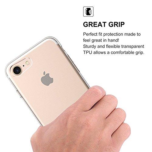 iPhone 7 Plus Coque, PULESEN® iPhone 7 Plus Couvercle du Boîtier [Crystal Transparent] Ultra Mince / Anti-dérapant / Non Encombrement Protecteur Transparent TPU Souple Pour Apple iPhone 7 Plus iPhone 7