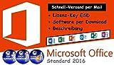 Microsoft Office Standard 2016 Lizenz Key / Sofort-Versand per Mail (ohne USB/DVD)