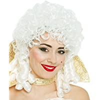 Guirca - Peluca de época, talla única, color blanco ...