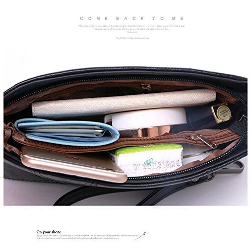Yoome puro colore per incontro Crossbody Shell Bag Borsa a tracolla Ladies Handbag Borse in pelle morbida - Grigio Grigio