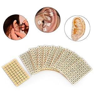 600 Stk Akupunktur Ohr Presse Samen Entspannung Massage Sonde Akupressur Ohr Vaccaria bohne Auricular-paster Druck Ohren Aufkleber