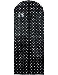 Hangerworld Housse de Protection Noire à Pois pour Robe 150cm x 61cm