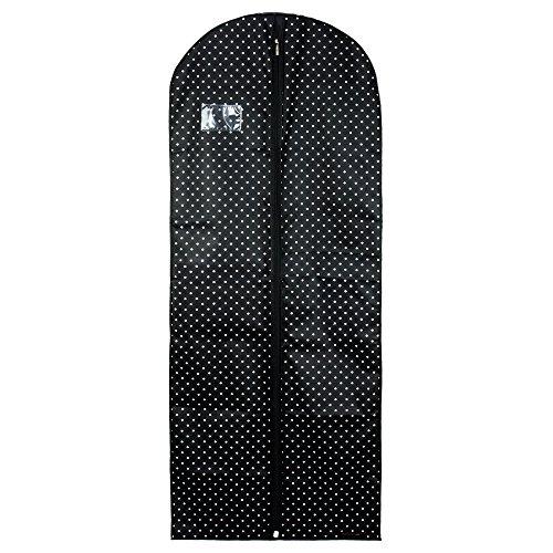 Hangerworld Atmungsaktive Kleiderschutzhülle 152cm Schwarz-Weiß-Gepunktet Kleiderhülle