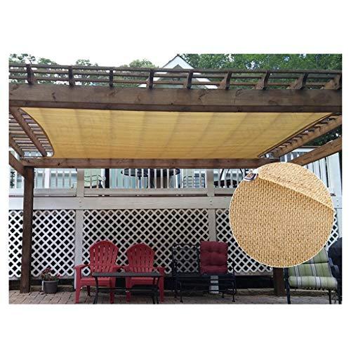 Tenda da sole tenda da vela, rettangolo 185 gsm più spessa impermeabile 95% uv ombra da esterno rete solare per patio pergola cortile strutture attività tenda a baldacchino, 2x3m 5x5m taglie multiple