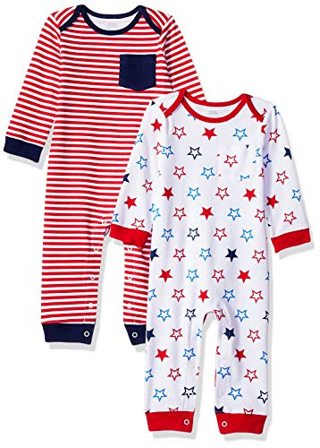 Amazon Essentials Baby-Overall, 2er-Pack, Uni Americana, US 18M (EU 80-86)
