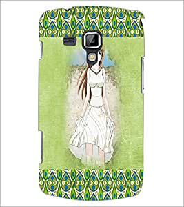 PrintDhaba Cute Girl D-4586 Back Case Cover for SAMSUNG GALAXY S DUOS 2 S7582 (Multi-Coloured)