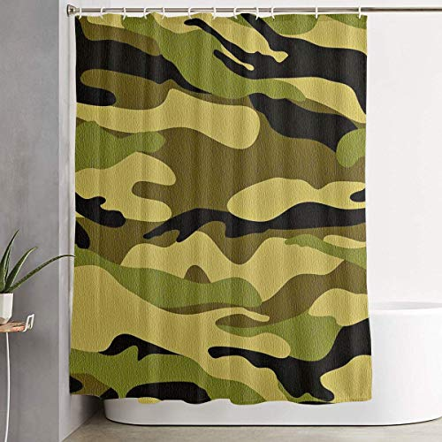 Duschvorhang,Army Camouflage 3D Camo Print Shower Curtain Liner 70x70 inches Waterproof Fabric Shower Curtains with Hooks Bathroom Sets for Home Hotel Decor Betsey Johnson Zebra
