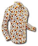 70er Jahre Hemd Dots&Spots Orange Größe L