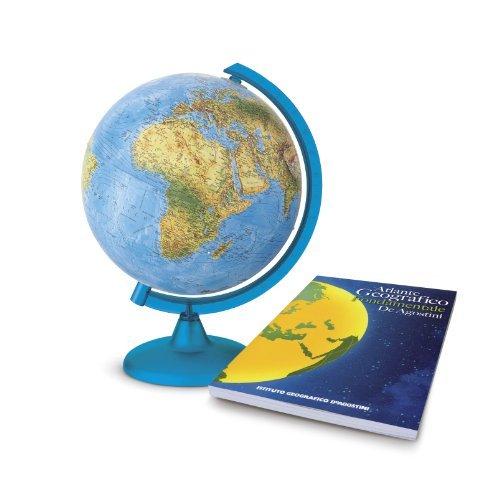 DeAgostini - Globo terráqueo luminoso con atlas geográfico