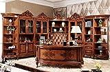 Ma Xiaoying Büro Schränke und Schreibtisch und Büro Stuhl, Antike Möbel, Buche massiv Holz geschnitzt von Händen, europäischen Klassik, braun by