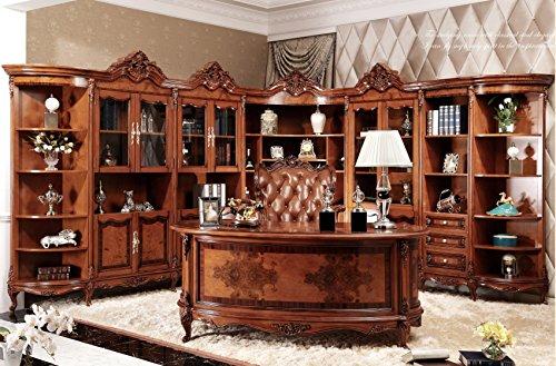 Ma Xiaoying Büro Schränke und Schreibtisch und Büro Stuhl, Antike Möbel, Buche massiv Holz geschnitzt von Händen, europäischen Klassik, braun by - Hand Geschnitzt Antik