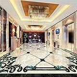 Europäischen Stil Nachahmung Marmor Muster Wohnzimmer Boden Aufkleber Wandbild Tapete Hohe Qualität Benutzerdefinierte 3D Boden Wandbild, 200 * 140 cm