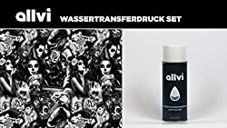 Wassertransferdruck Folie Wtd Starter Set Skulls & Ladies Inkl. Aktivator, Messer Und Handschuhe