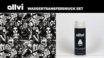 Wassertransferdruck Folie Wtd Starter Set Skulls & Ladies Inkl. Aktivator, Messer Und Handschuhe 0
