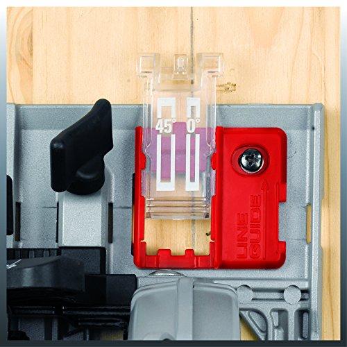 Einhell Handkreissäge TE-CS 190 (1500 W, max. 66 mm, SägeblattØ 190 mm, 24 Zähne, LED-Sägestellenbeleuchtung, Absaugadapter, Parallelanschlag)
