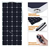 SUNKINGDOM 120W 18V Semi Flexible Solar Panel with MC4 Output Easy to install Roof Layouts,Boating for Storage Battery,any 16V Electronic Device