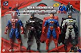 #3: shreema Variety Stores Justice League Super Heroes Set of 4 Action Figure for Kids - Team Avengers Superman, Spiderman, Batman.