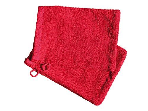 Set di 2 guanti da bagno ANTIQUE Rosso rubino