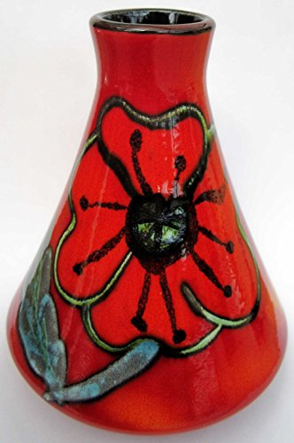 Poole Pottery Poppy Field Conical Bud Vase 12cm [kitchen & Home]