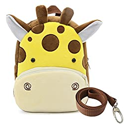 Dd Toddler Boys Girls Kids Children Backpack, Animal Cartoon Safety Anti-lost Strap Rucksack With Reins (Giraffe)