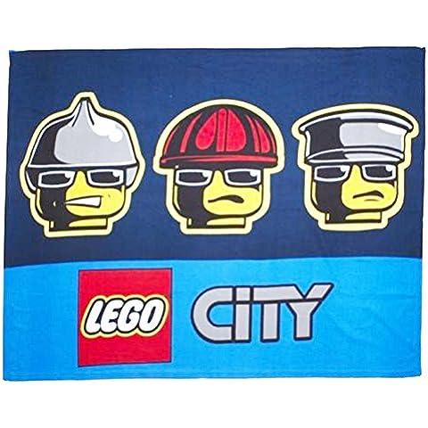 Character World Fireman Sam-Lego DC Super Heroes Ninja Turtle Urban Ninjago-Coperta in pile, nuovo prodotto con licenza ufficiale Range di Designs