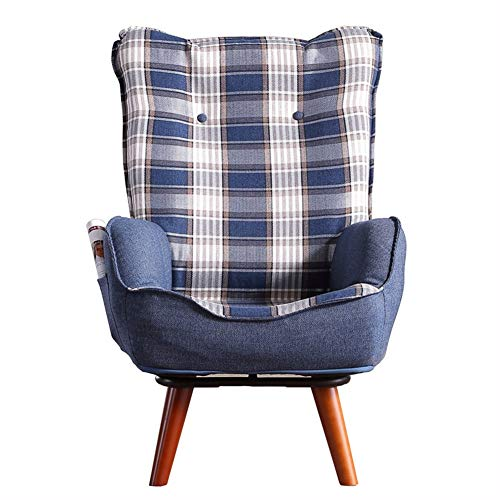 Sitzsäcke Stillen Stuhl Einzel Sofa Faule Couch Liege Rückenlehne Stuhl, 360 ° drehbare Liege Fütterung Hocker Schlafzimmer, Höhe 93cm (Farbe : Style 4) -