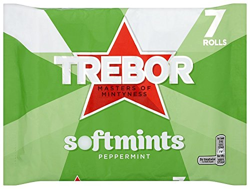 Trebor Softmints Peppermint (Pack of 7 x 4 = Total 28 Rolls)
