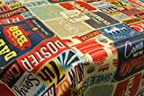 Wipe Clean PVC, Tablecloth, Oilcloth, Vinyl - Retro American Diner - 200x140cm - By TheFabircTrade by TheFabricTrade