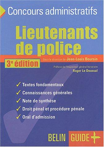 Lieutenants de police : le concours