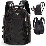 FreeBiz 17.3 pouce Sac à Dos Ordinateur Portable Anti-choc Backpack Résistant à l'eau Rucksack 17' de gaming Laptop pour Dell, Asus, MSI PC Noir