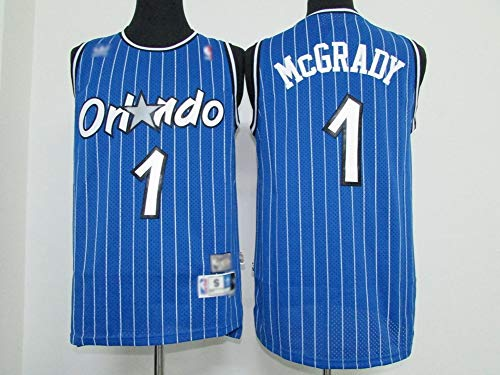 Herren Basketball Trikots, NBA-ORL Orlando Magic/Tracy McGrady # 1 Basketball Uniform Baumwolle Fans Sport Sweatshirt Basketball Swingman Jersey,S(165~170) cm