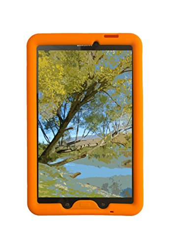 Bobj Silikon-Hulle Heavy Duty Tasche für Samsung Galaxy Tab E 9.6 (SM-T560, SM-T560NU), Tab E Nook 9.6 - BobjGear Schutzhulle - Tablet Nook Tasche Farbe Nook Oder