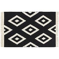 Lorena Canals 1703496031 - alfombra black&white diamonds 140x200 cm