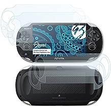 Bruni Sony PlayStation Vita Pellicola Proteggi - Set di 2 cristallino Protezione Pellicola dello Schermo Pellicola Protettiva per Sony PlayStation Vita