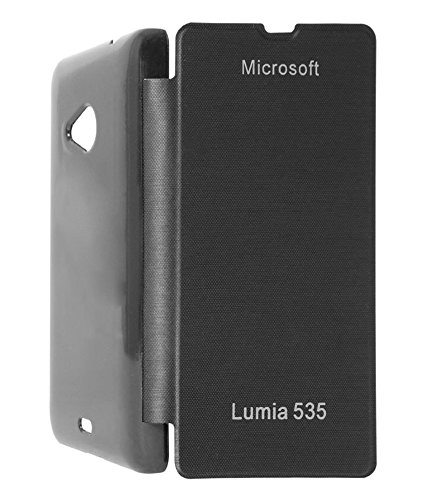 Evoque Flip Cover For Microsoft Lumia 535 -Black  available at amazon for Rs.149