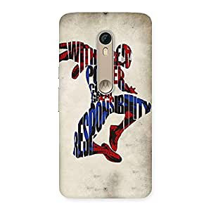 Cute Power And Responsibility Multicolor Back Case Cover for Motorola Moto X Style