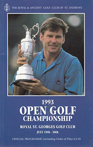 1993 Open Golf Championship, Royal St.George's Golf Club, July 15th - 18th: official programme